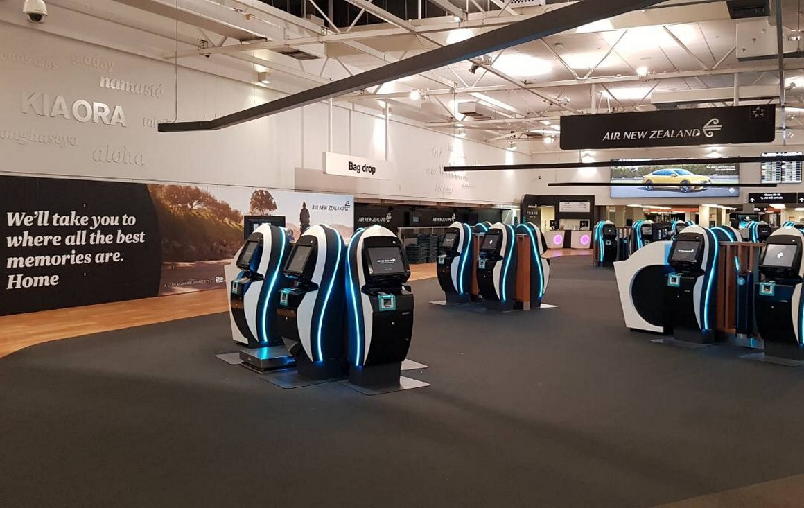 Air NZ - Auckland Airport  |  Domestic Terminal Check In Area